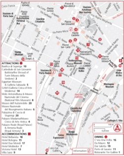 Карта Турина