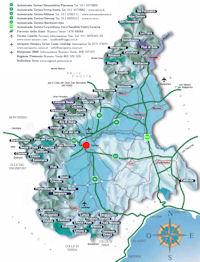 карта горнолыжных курортов Пьемонта